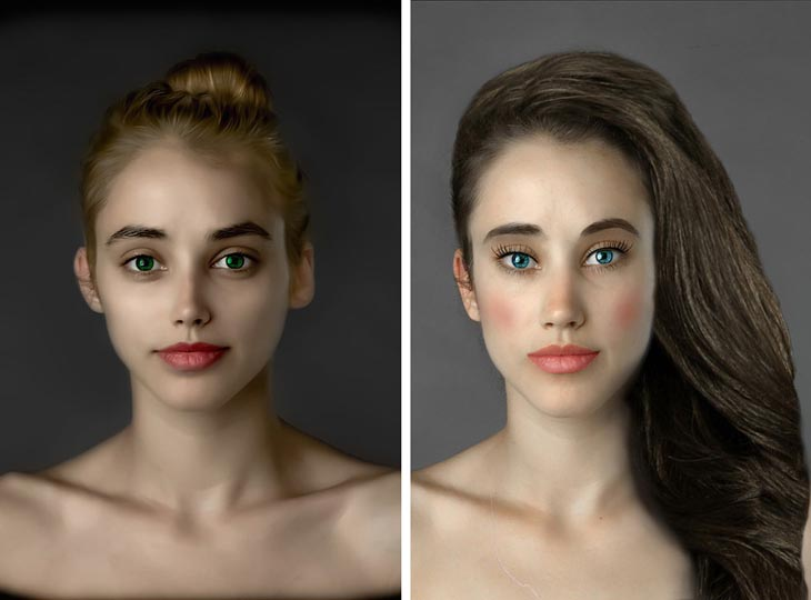 Women's beauty around the world