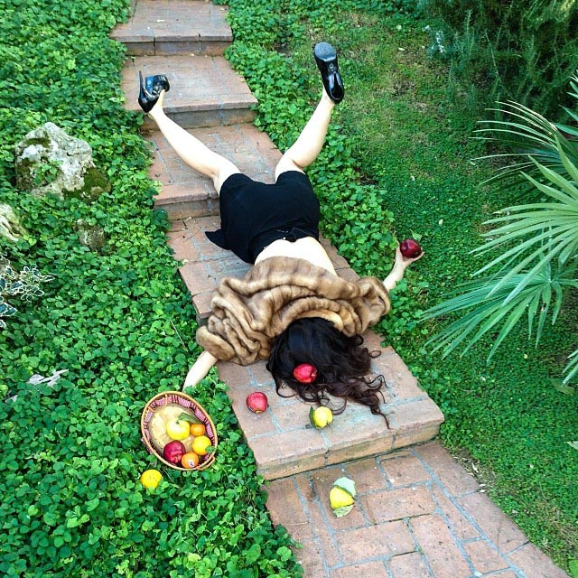 People Posing as If They Have Just Fallen Down