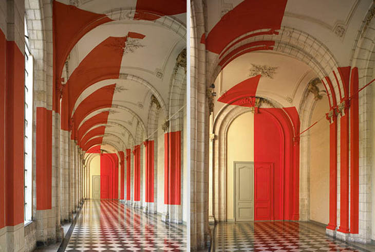 Perspective-localized paintings