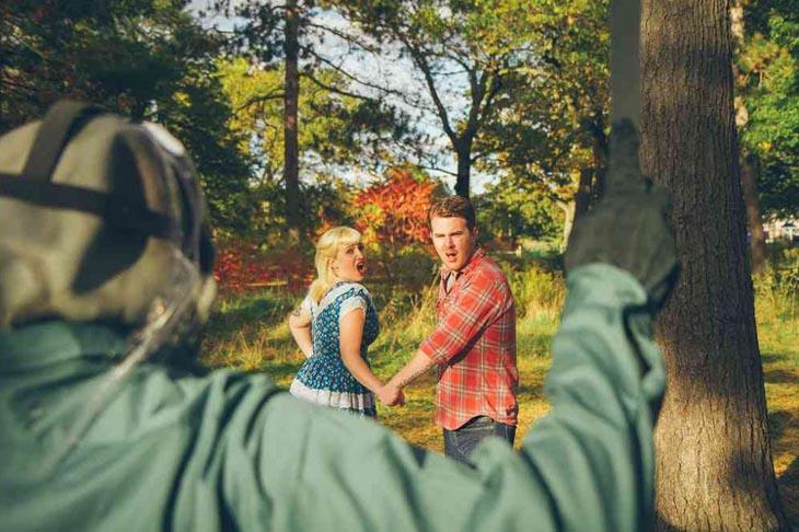 Awkward engagement photos