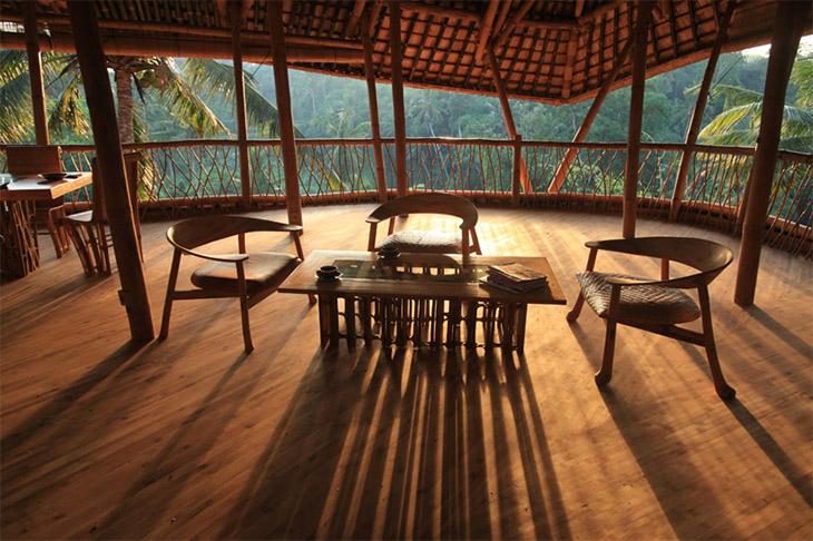 Bamboo huts in Green Village, Bali