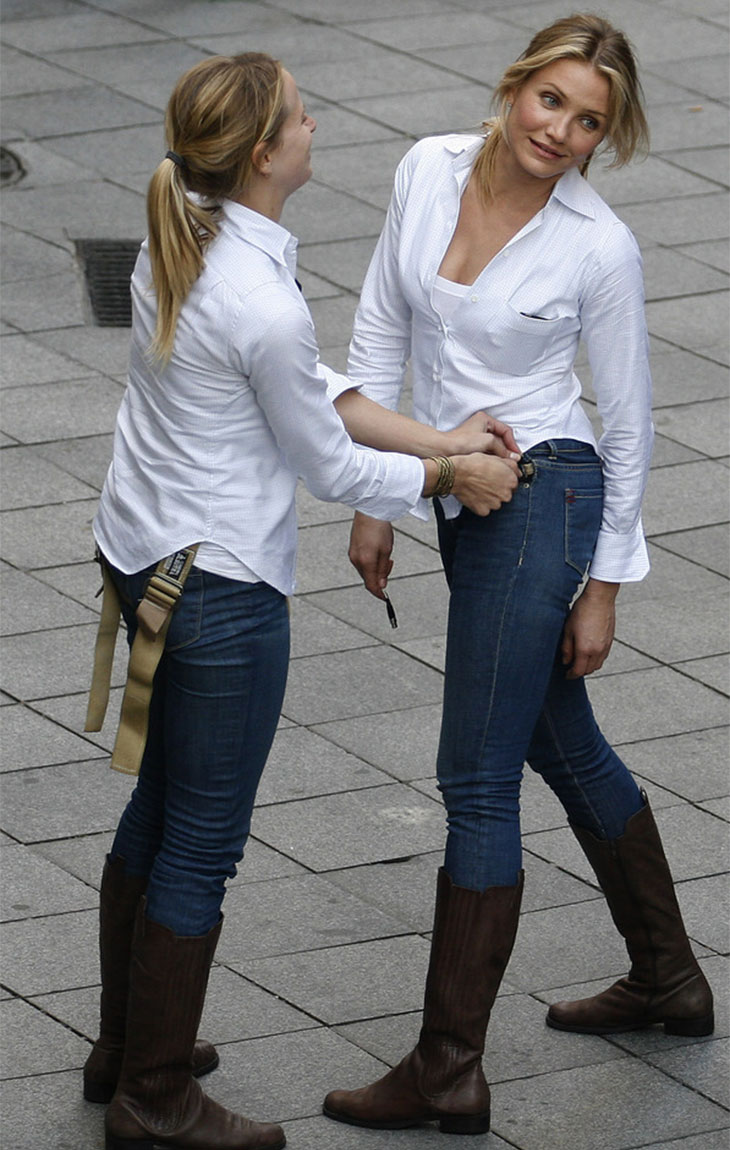 Celebrities and their stunt doubles