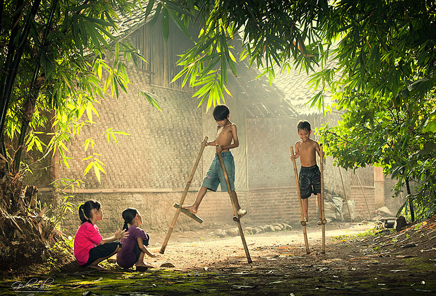 Children Playing in Indonesia