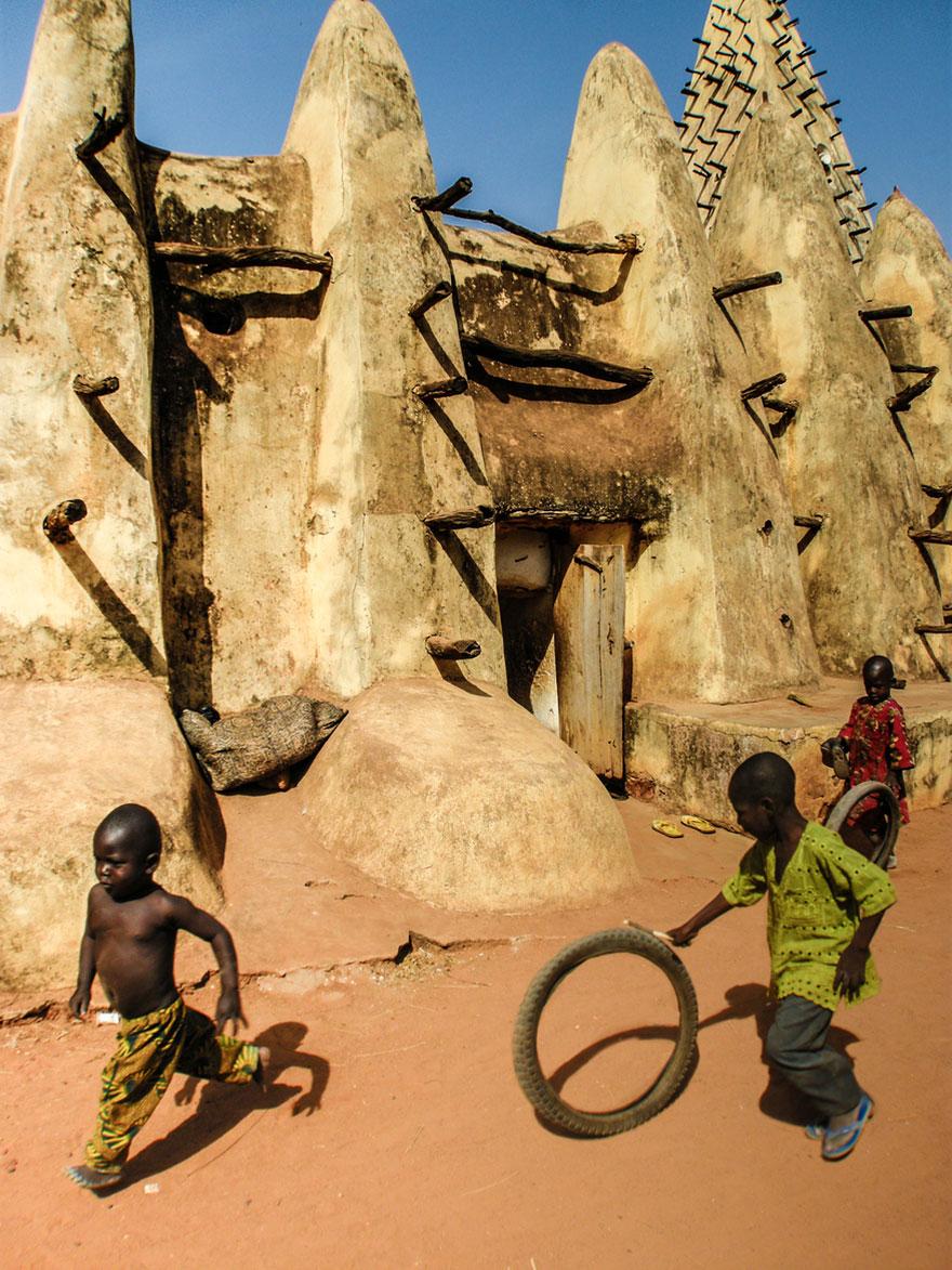 Children Playing in Burkina Faso