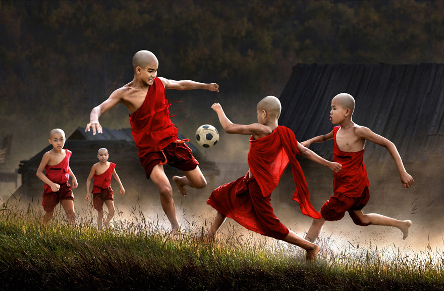 Children Playing in Myanmar