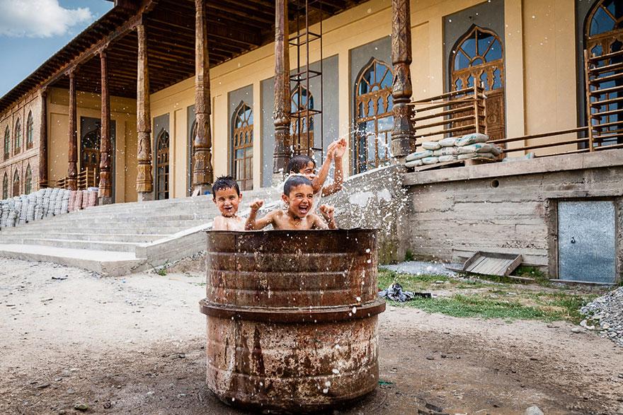 Children Playing in Tajikistan