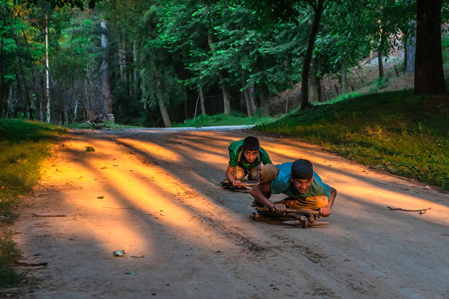 Children Playing in India