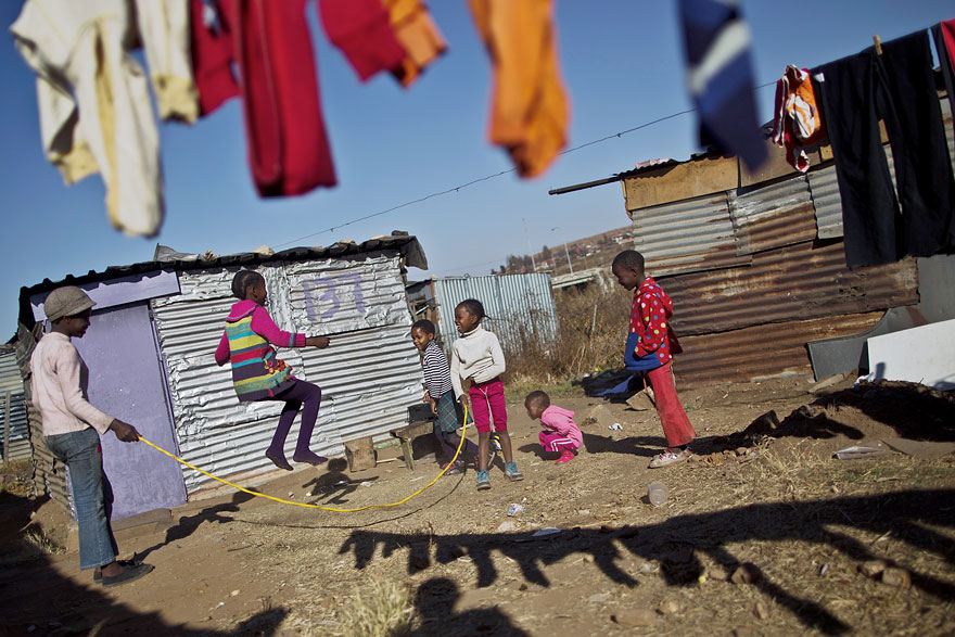Children Playing in South Africa