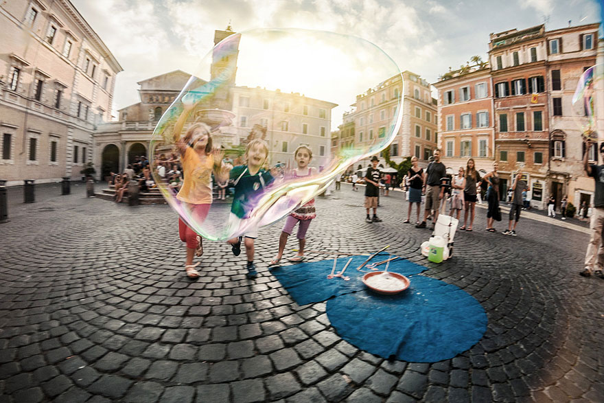 Children Playing in Italy