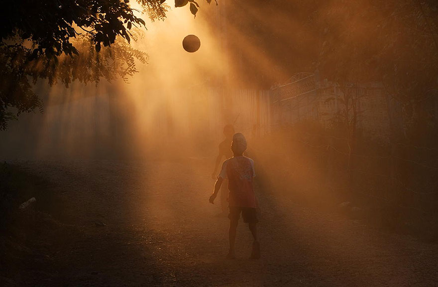 Children Playing in Romania