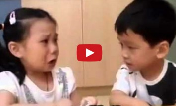 This Little Boy Did Something Amazing To Comfort a Girl On Her First Day Of School