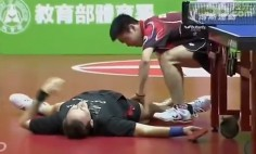 This Is The Funniest Table Tennis Match You've Ever Seen. You Will Die Laughing!