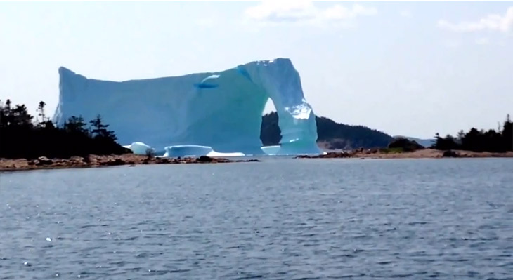 The iceberg was about 20-25 stories high