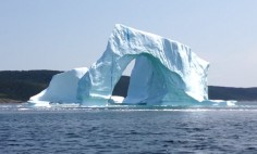 An Iceberg Suddenly Collapsed When They Were Filming It. It's Breathtaking!