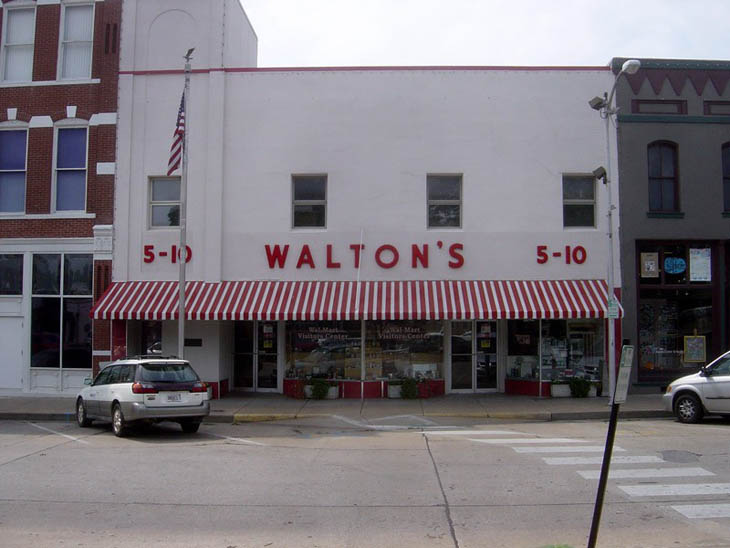 The first Walmart store opened in 1962