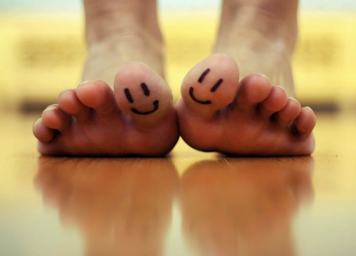 Relax the muscles in your toes