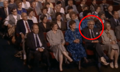 This Hero Doesn't Know That He Is Sitting Next To The Many Children He Saved During The Holocaust.