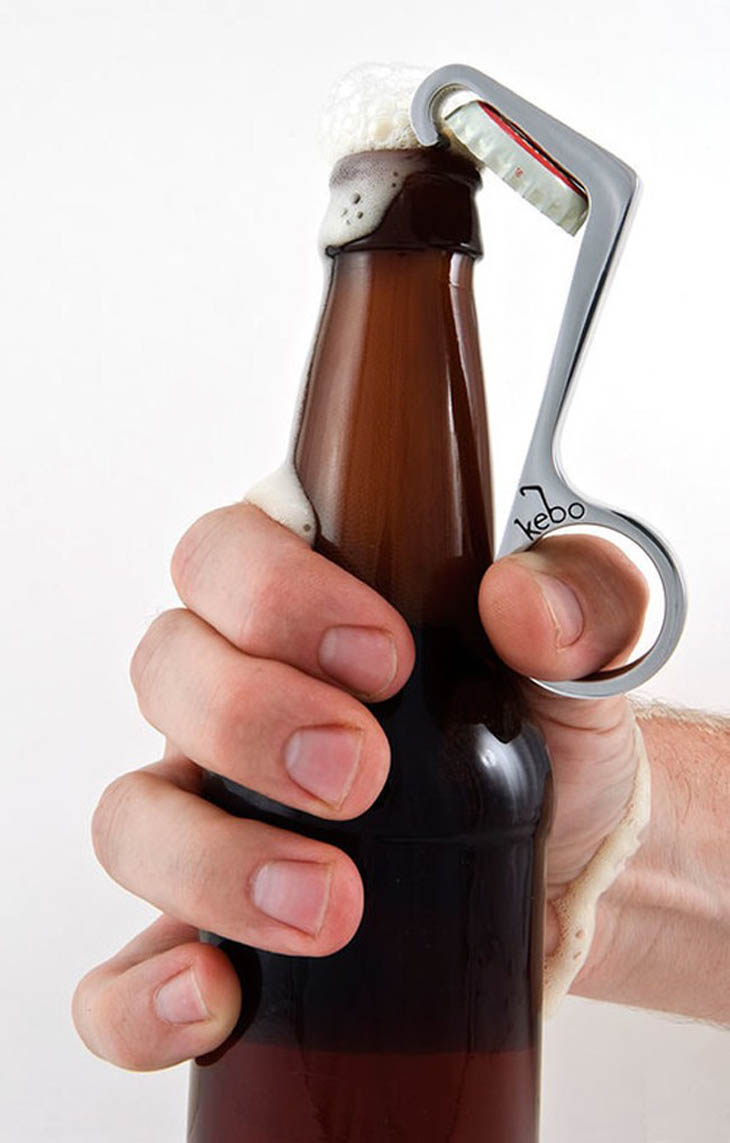 Clever Inventions - One-handed bottle cap opener.