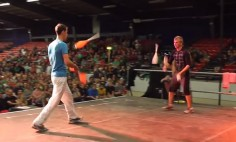 I Bet You've Never Heard About This Kind Of Combat Juggling Ever! It's Brilliant!