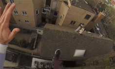 He Attached A GoPro To His Head While Jumping, What Happened at 1:13 Will Stop Your Breath!