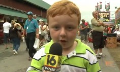 'Apparently' This Kid Has Never Been On Live Television Before, He Is Now And He Nailed It!
