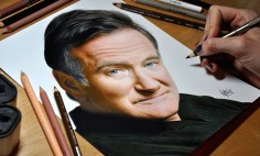 This Lovely Tribute To Robin Williams Will Steal You Heart. Awesome Talent!