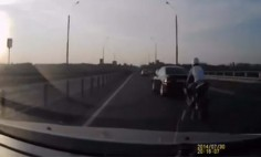 This Will Be The Craziest Motorcycle Accident You've Ever Seen. My Jaw Dropped At 0.20!