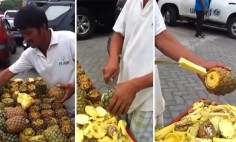 You've Been Peeling Pineapple The Wrong Way Your Whole Life! Must See!