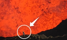 Crazy Man Hikes INTO An Active Volcano, His GoPro Footage Will Make Your Jaw Drop.