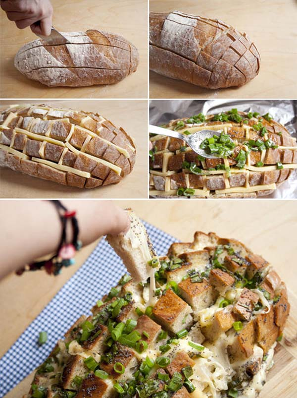 Cool cheesy bread with a twist.