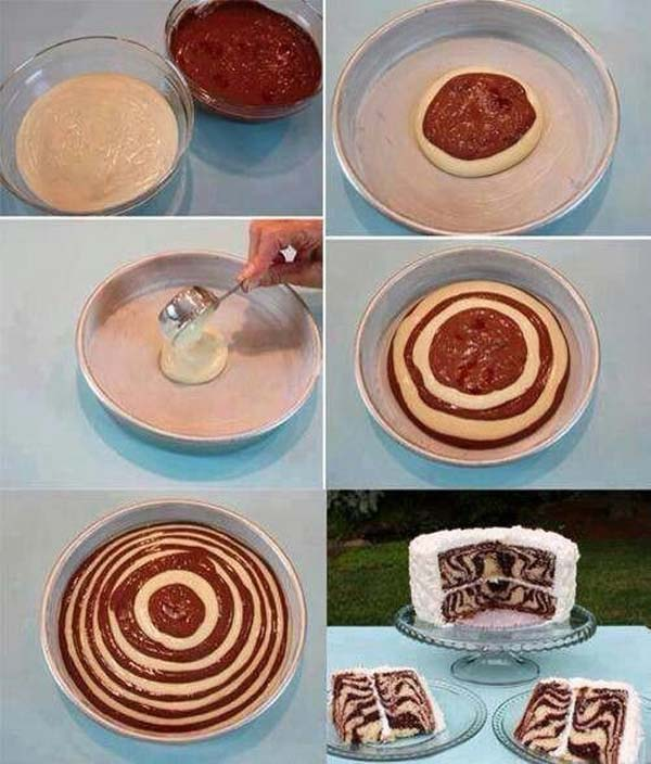 This is how you make a swirly cake.