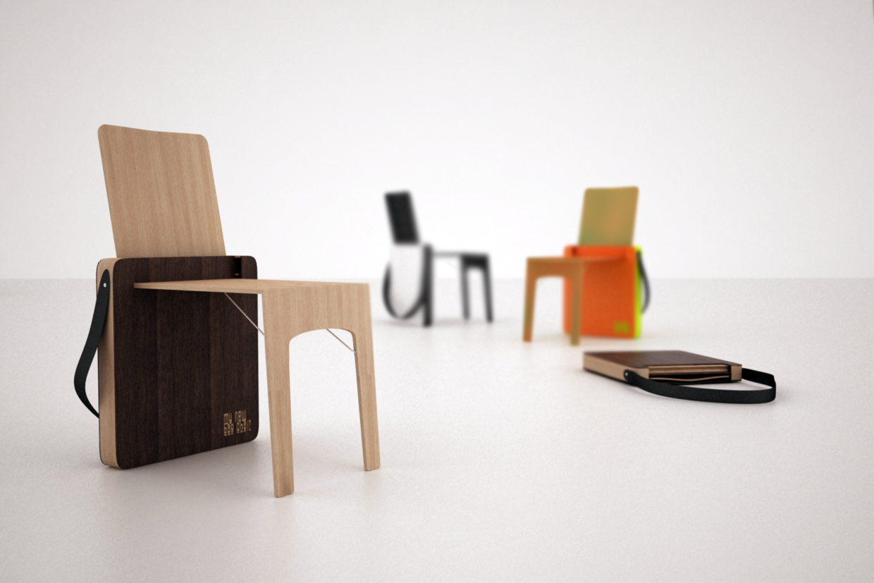 wooden design furniture. Space-Saving Creative Furniture Design - Bag Chair Wooden