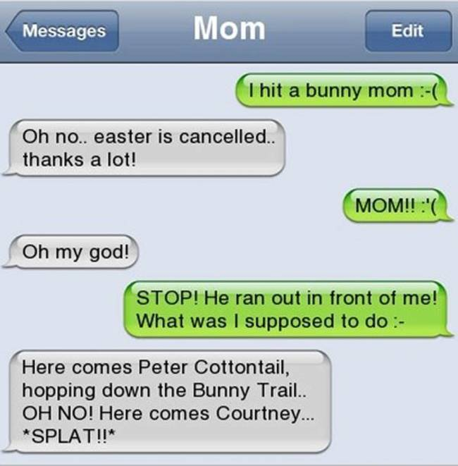 Image of: Ever Sent Funny Texts Between Parents And Their Children Kickvick 31 Funniest Texts Ever Sent By Parents To Their Children
