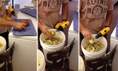Looks Like You've Been Peeling Apple The Wrong Way All These Years. Must See!