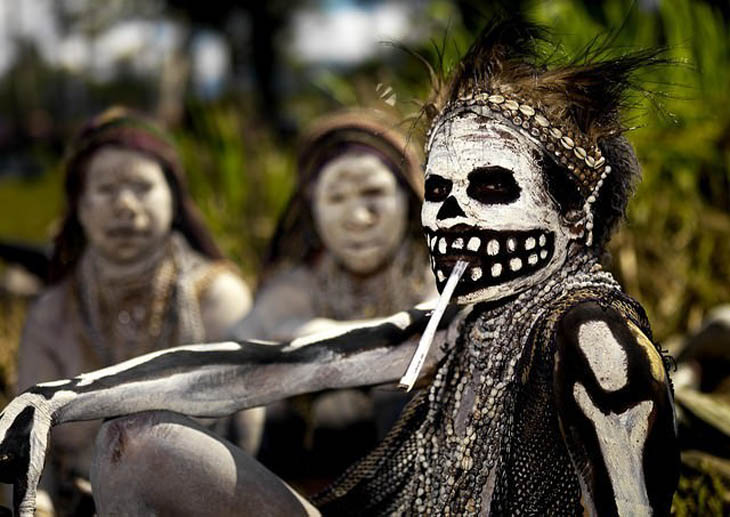 Papua New Guinea woman during a Singsing celebration in Mount Hagen