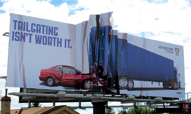Tailgating Isn't Worth It. Give Trucks Room.