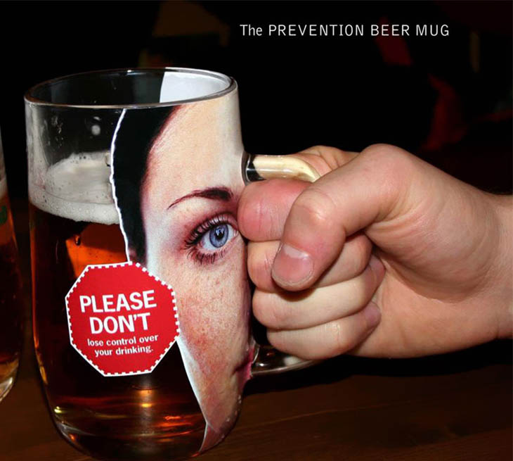 The Prvention Beer Mug: Please Don't Lose Control Over Your Drinking.