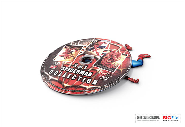 Don't kill blockbusters. Choose original DVDs over pirated ones.