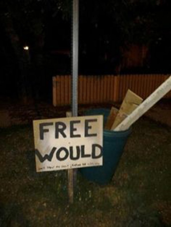 Wood you like to have some free would?
