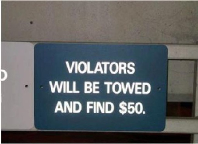 Now you get rewarded for parking illegally?