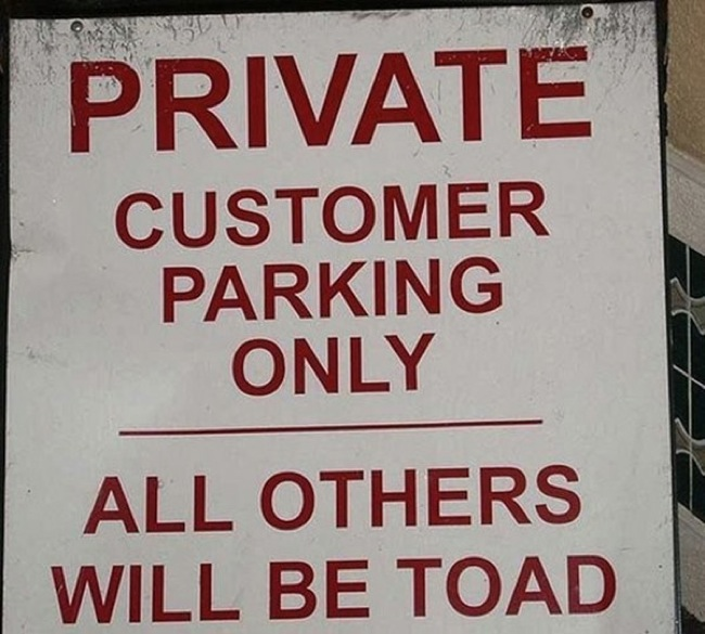 Proofread Mistakes - You should take witch's parking policies VERY seriously.
