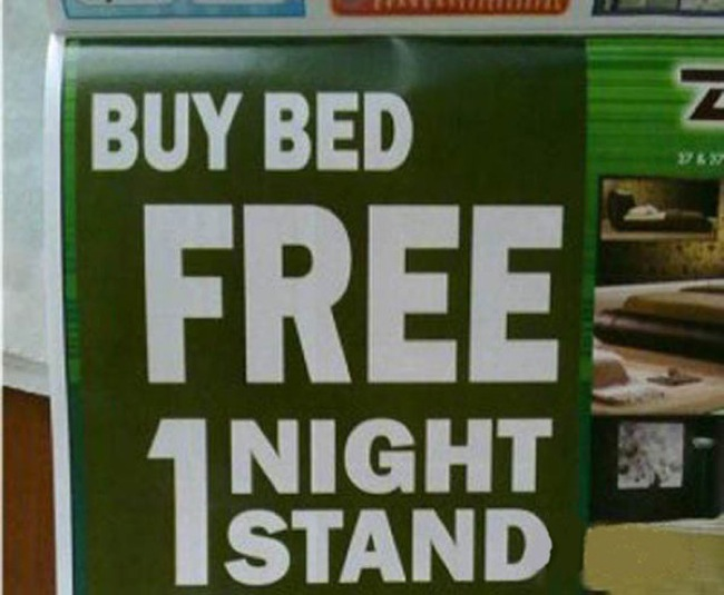 Interesting offer! This store probably be out of beds soon.