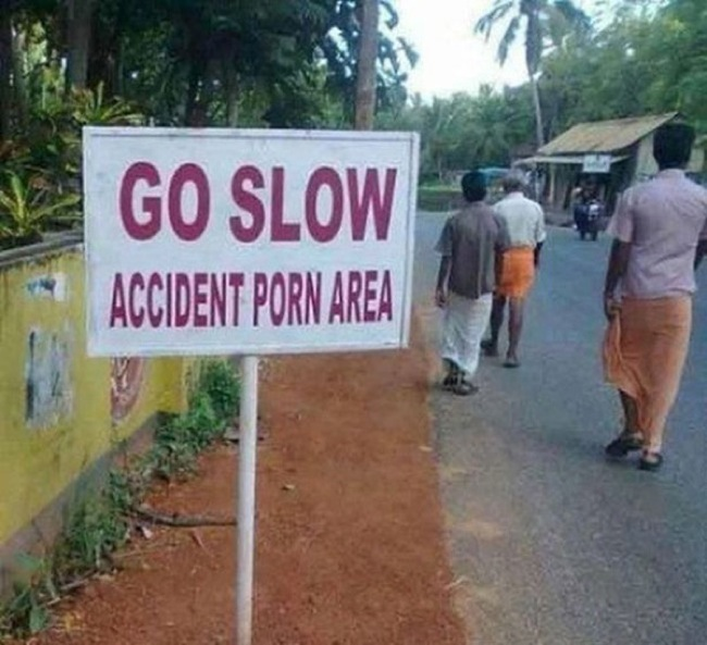 Proofread Mistakes - Don't look confused. It's an X-rated road.