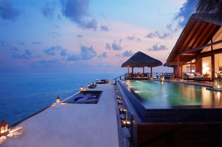 Awesome Lounging Places - Step pool with the incredible view.