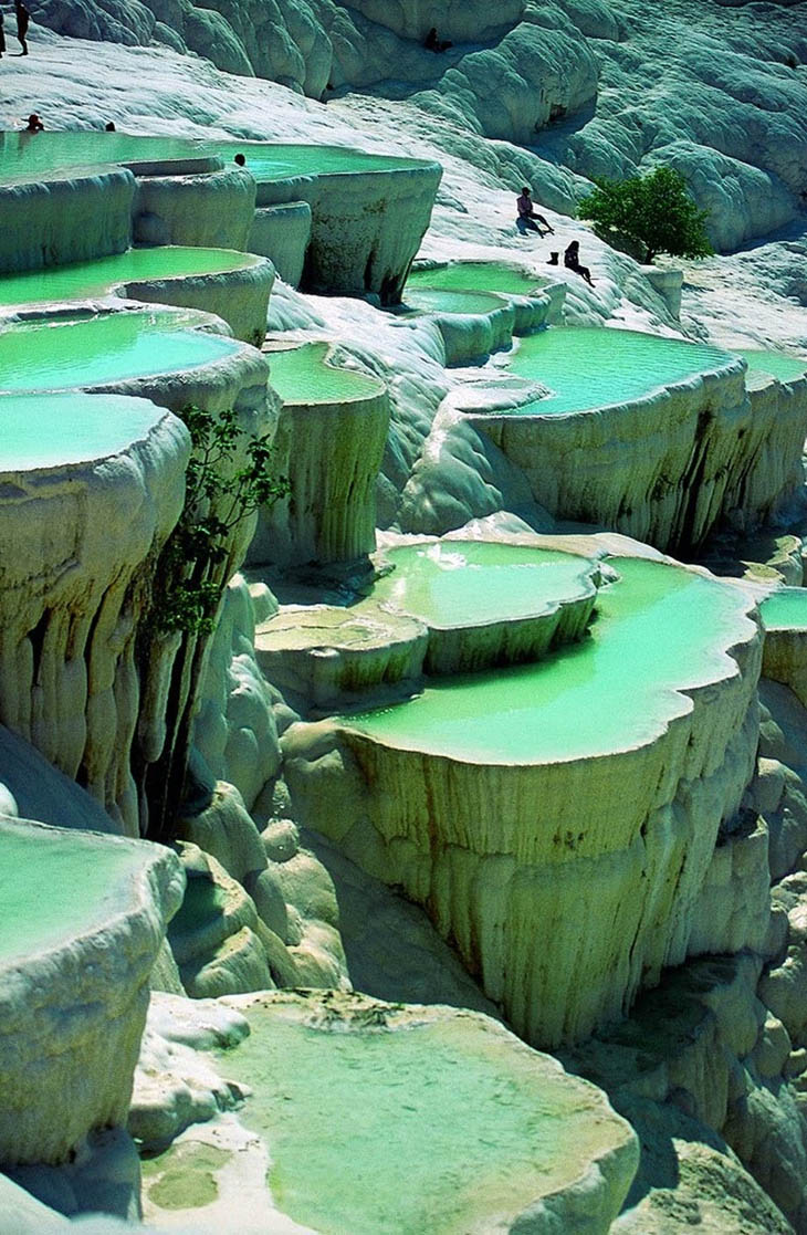 Awesome Lounging Places - Natural pool in Pamukke, Turkey.