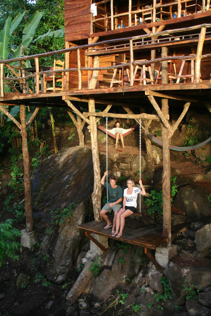 Treehouse with secret swing in Granada, Nicaragua.