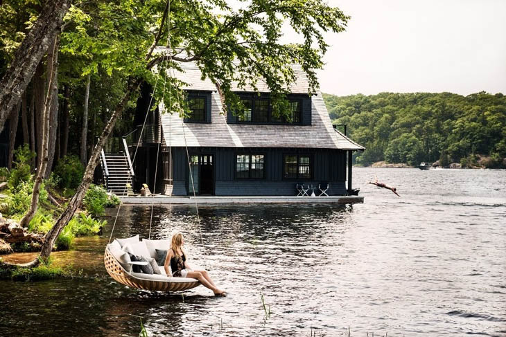 Awesome Lounging Places - Hanging hammock on Dedon Island.
