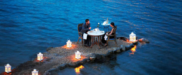 Awesome Lounging Places - Romantic time in Mykonos, Greece.