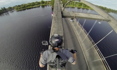 Have You Ever Wished For Riding A Bike Over A Bridge's Arch Beam? Well, Here You Go!