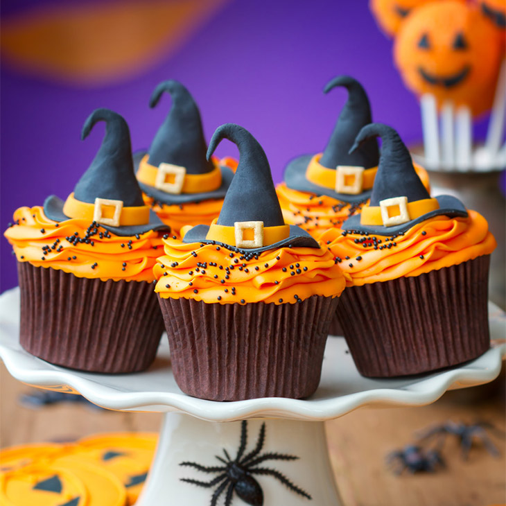 Witch Hat Halloween Cupcakes